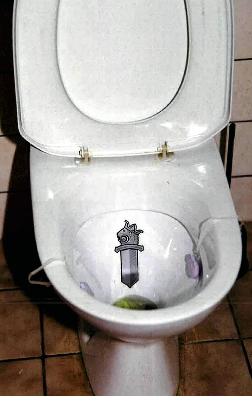 Hells Angels Club House Toilet Seat Decorated With Police