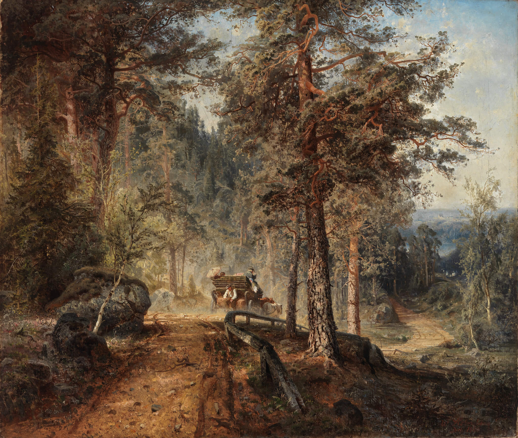 Artwork: Werner Holmberg: Road in Häme (A Hot Summer Day), 1860